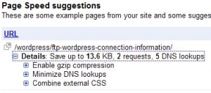 Google Webmaster Tools Suggestions